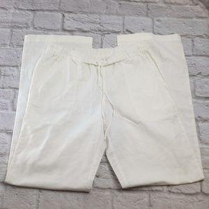 White Women's Linen Pants Comfy
